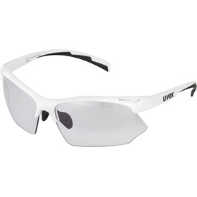 UVEX Sportstyle 802 V Glasses, white/smoke